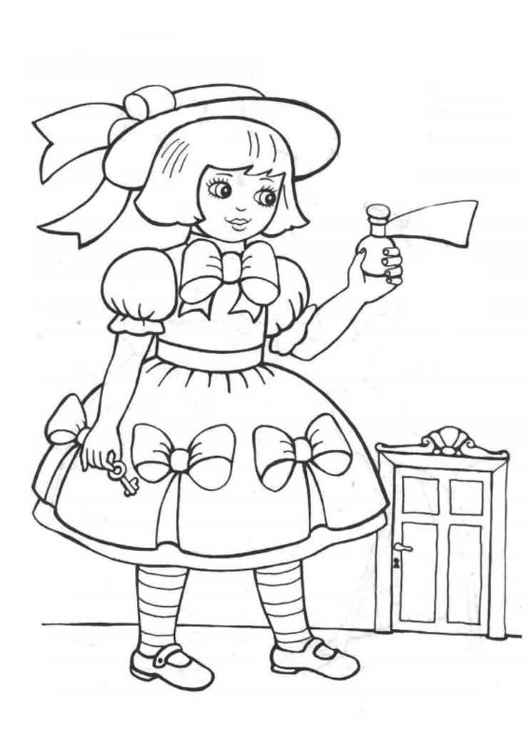 Раскраски Алиса в стране чудес