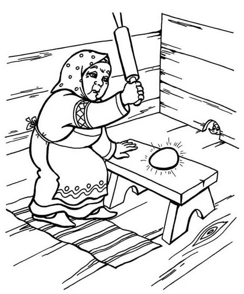 персонажи сказки курочка ряба картинки раскраски шьются тонкой