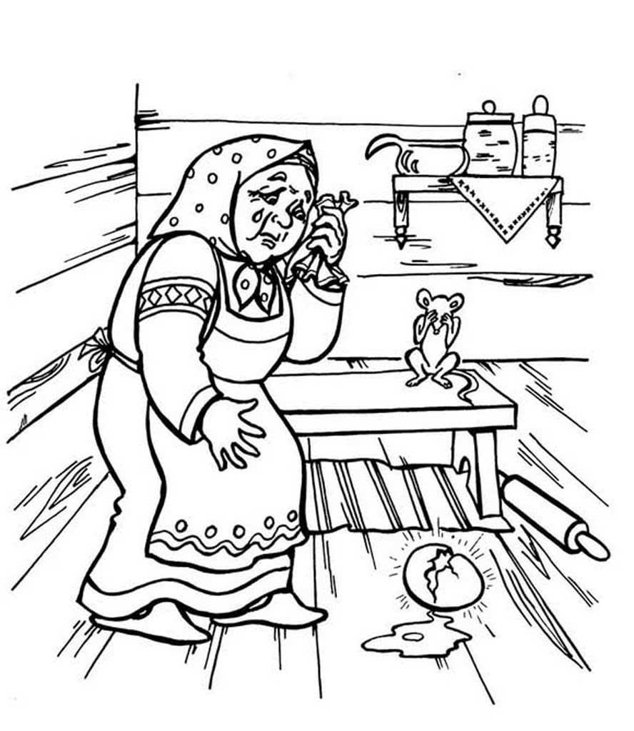 кадрах персонажи сказки курочка ряба картинки раскраски ребенок