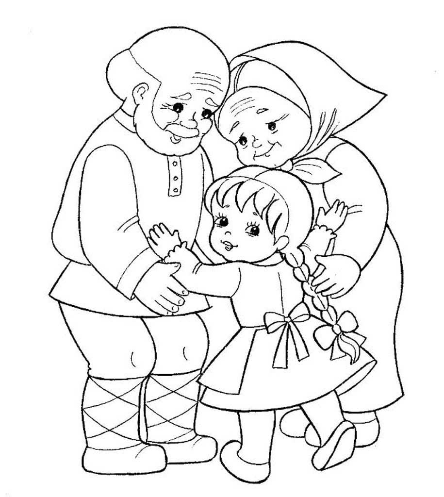 Раскраски для бабушек