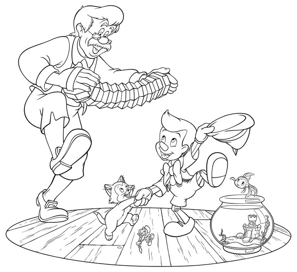 Раскраски Пинокио