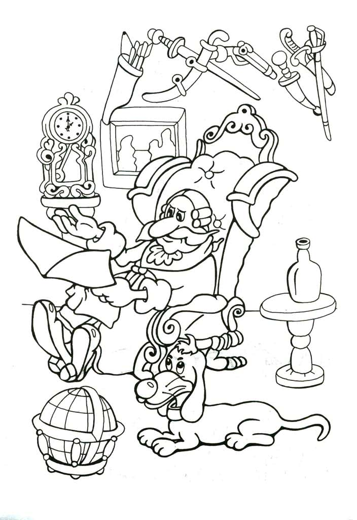 Раскраски Приключения Мюнхгаузена