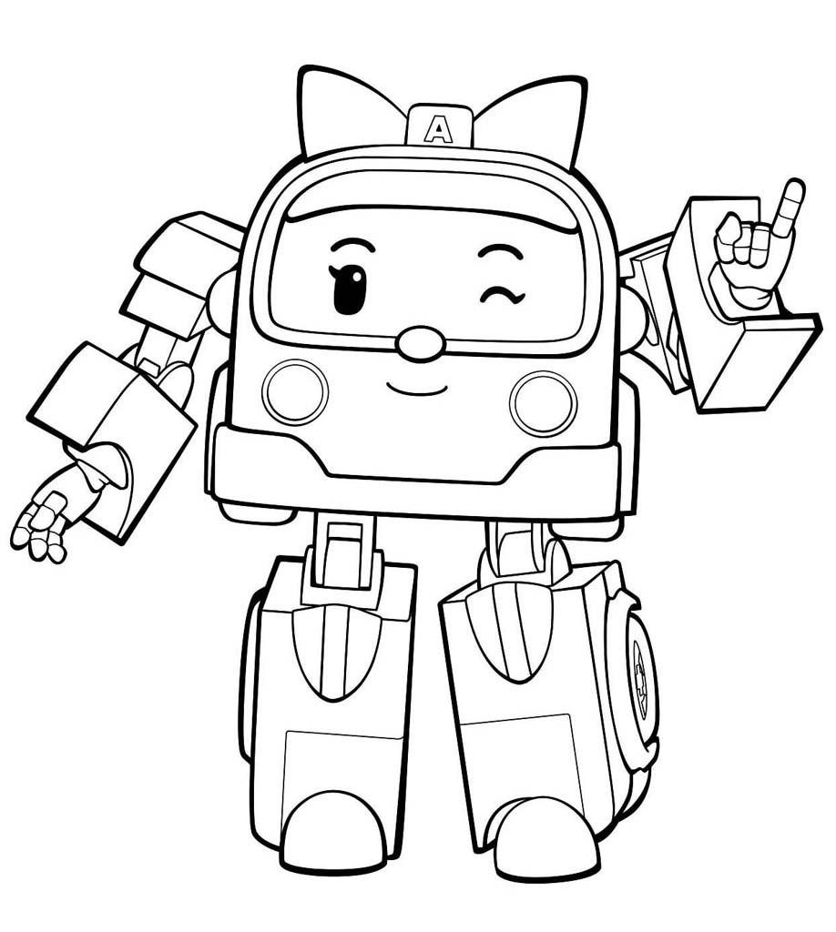 раскраски робокар поли мультфильм про машин трансформеров