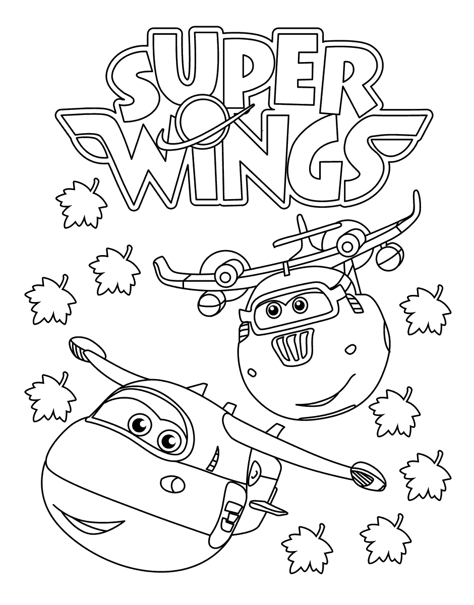 Раскраски Супер крылья