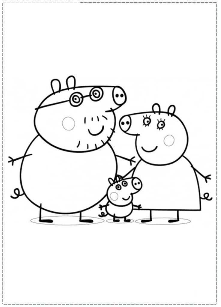 Раскраски Свинка Пеппа. Раскраски из мультфильма про свинку.