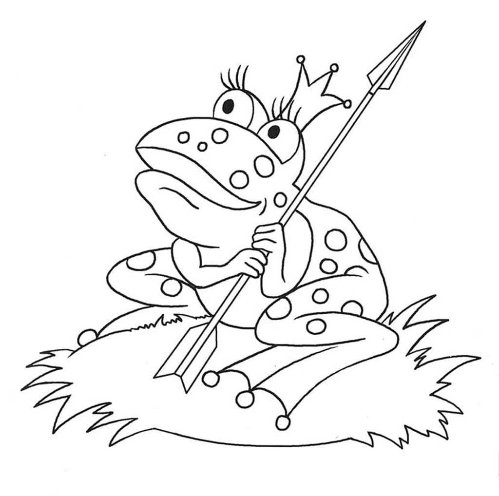 льна картинки для раскраски царевна лягушка фигурном