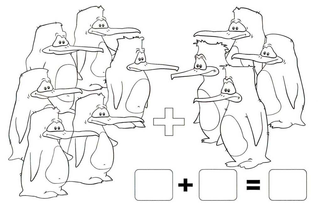 Раскраски Математические