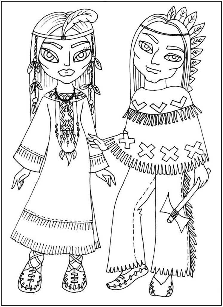 Раскраски Народные костюмы