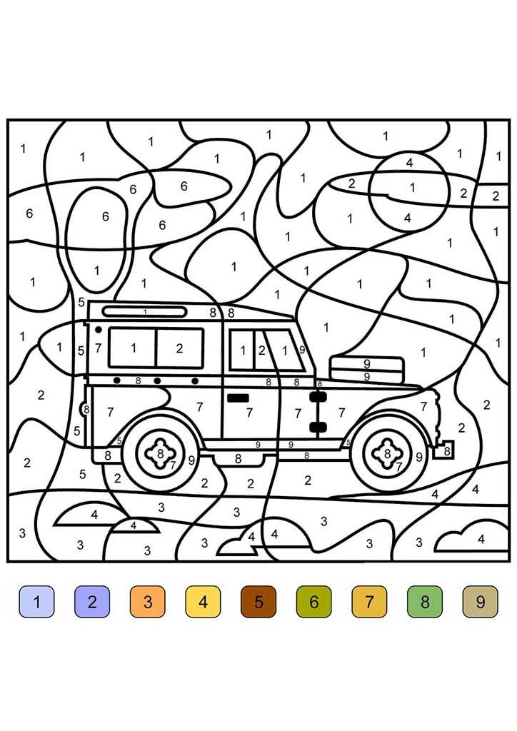 Раскраска Раскрась по цифрам