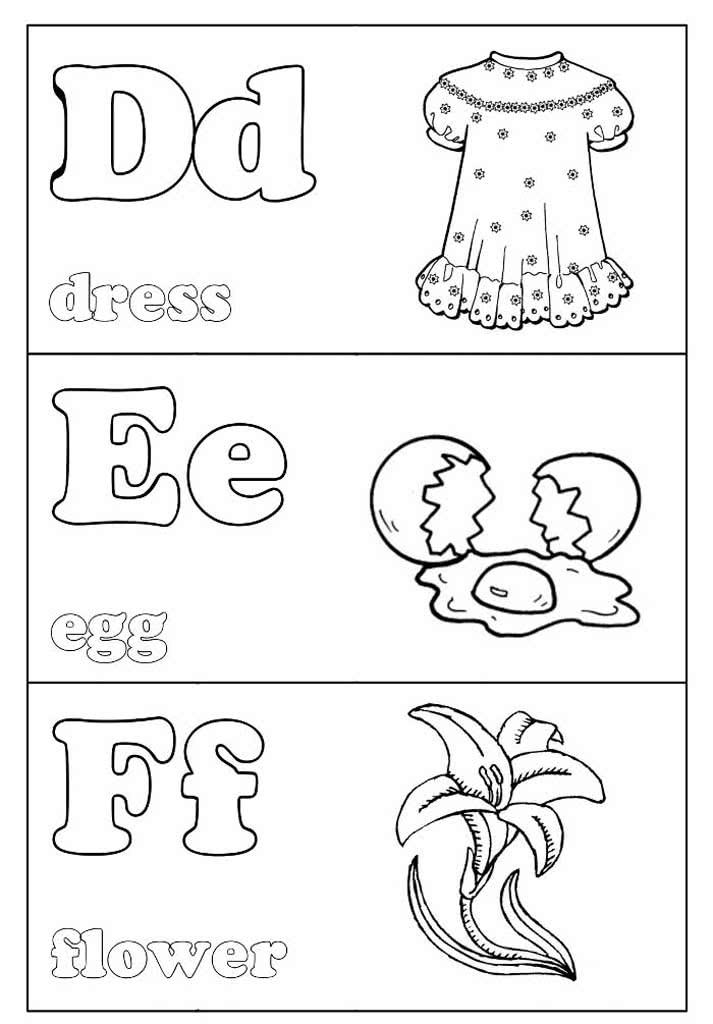 Раскраски Учим английский