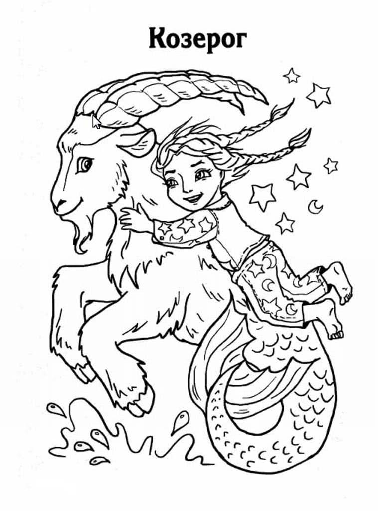 Раскраски Знаки Зодиака