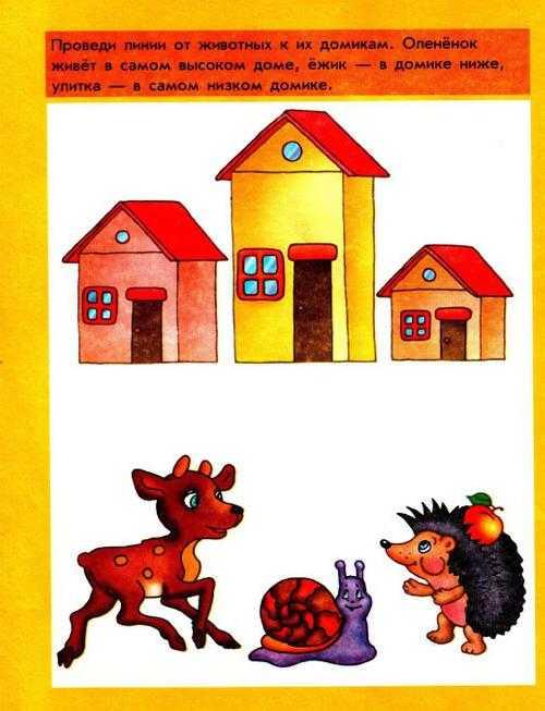 Мышление и логика. Задания для детей 3-4 лет.