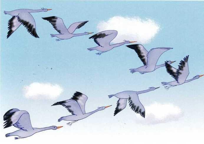 рисунок летящих журавлей картинки друзья срочно продаем