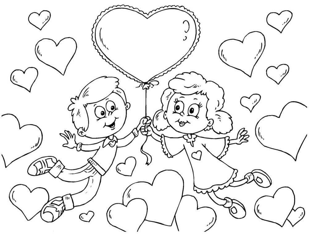 Раскраска на день всех влюбленных