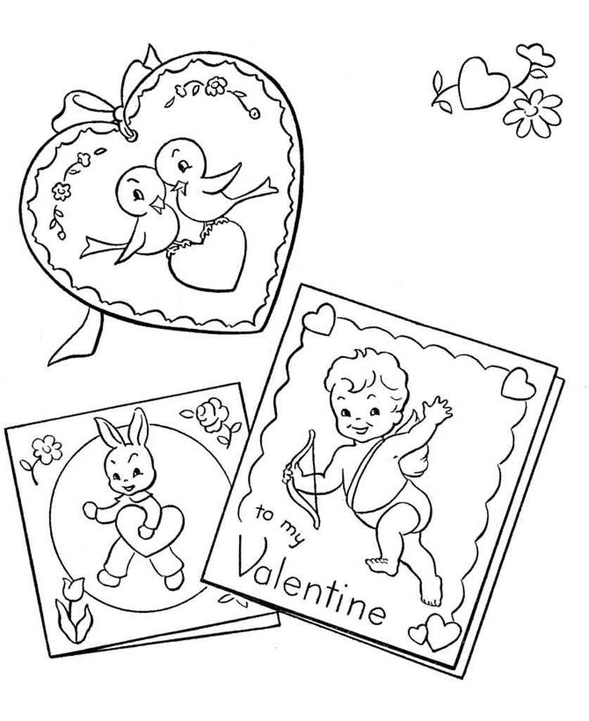 Раскраски День влюбленных