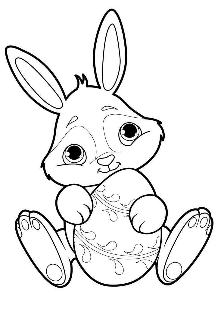 Кролики раскраска для детей