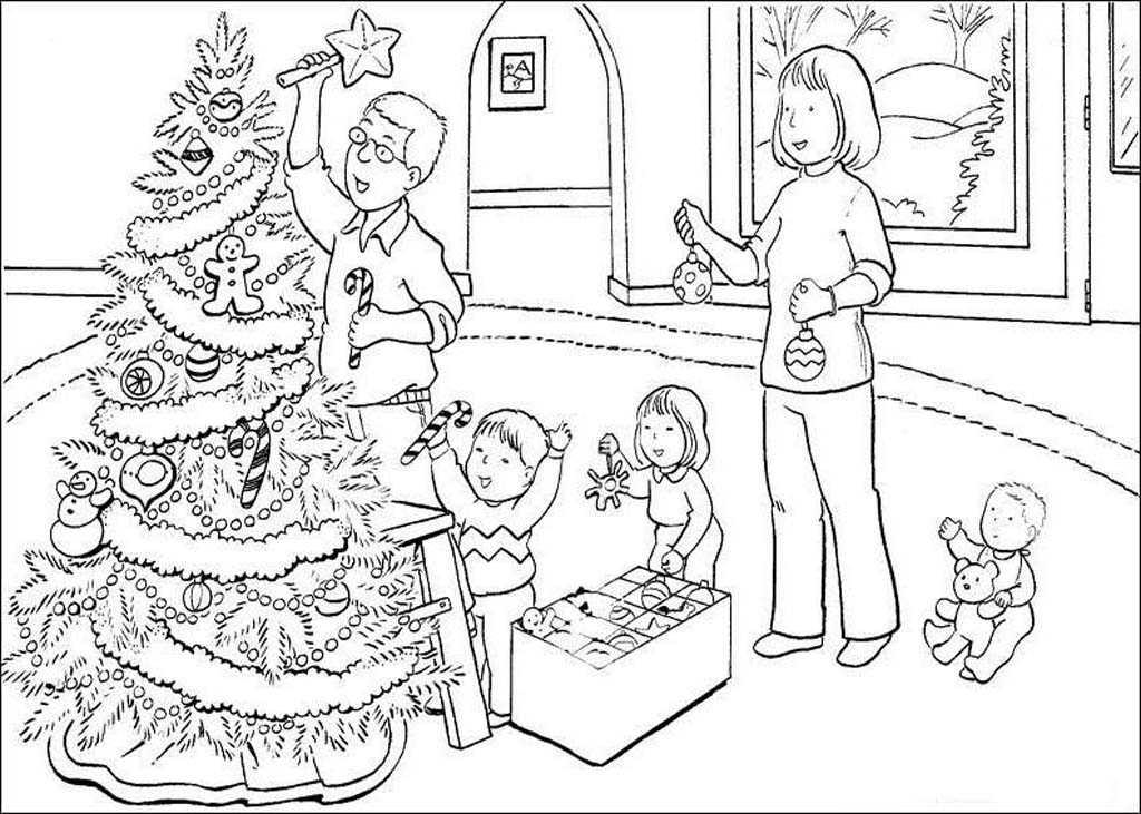 Раскраски Рождество