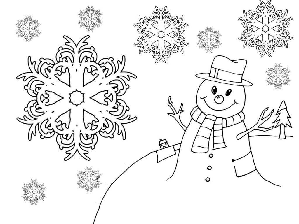 Картинки раскраски снежинки на новый год