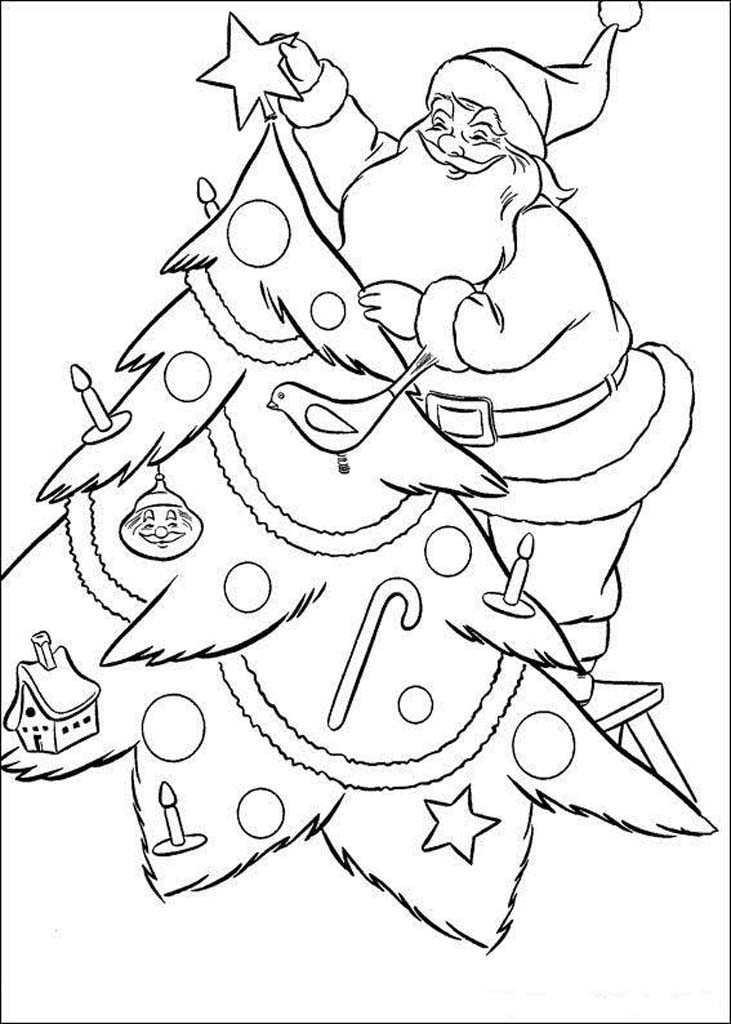 Раскраски Волшебство новогодней ночи