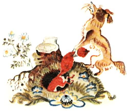 Лисичка со скалочкой — русская народная сказка
