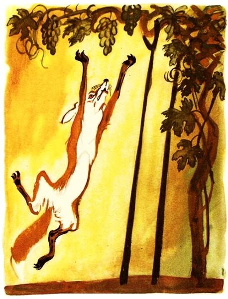 Лисица и виноград - Толстой Л.Н. Басня как лисица хотела ...