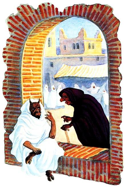Старуха, которая строила козни лучше самого дьявола — арабская сказка