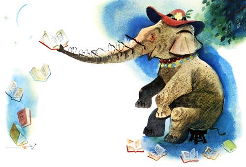 Слониха читает — Чуковский К.И.