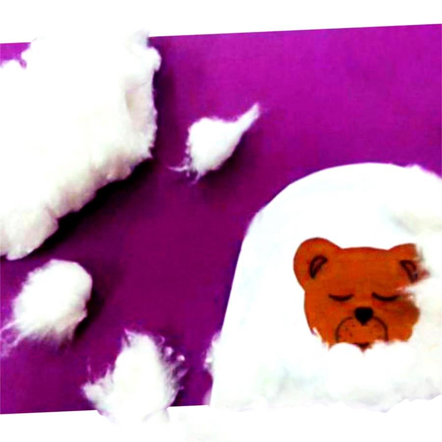 Медвежонок в берлоге. Аппликация.