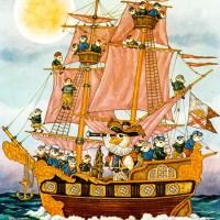 I saw a ship a sailing - английская песенка