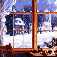 Снова за окном зима - песня про зиму