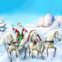 Три белых коня - песня про зиму