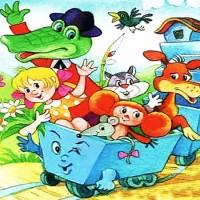 Голубой вагон - песня из мультфильма