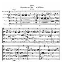 Дивертисмент №17 - Вольфганг Амадей Моцарт
