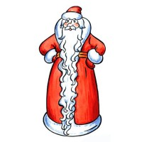 У тебя, Дед Мороз, вот такая борода - новогодняя песня