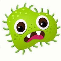 Раскраски Вирусы и бактерии